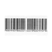 Противокражные этикетки радиочастотные 4х4 см. рулон 1000 шт штрихкодированные оптом