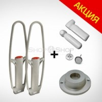 Комплект защиты от краж магазина (акустомагнитная антенна + 500 датчиков с иглой + съёмник) оптом