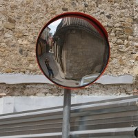 Зеркало обзорное  дорожное круглое с защитным козырьком O 900мм оптом