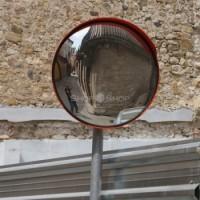 Зеркало обзорное дорожное круглое с защитным козырьком O 600мм оптом